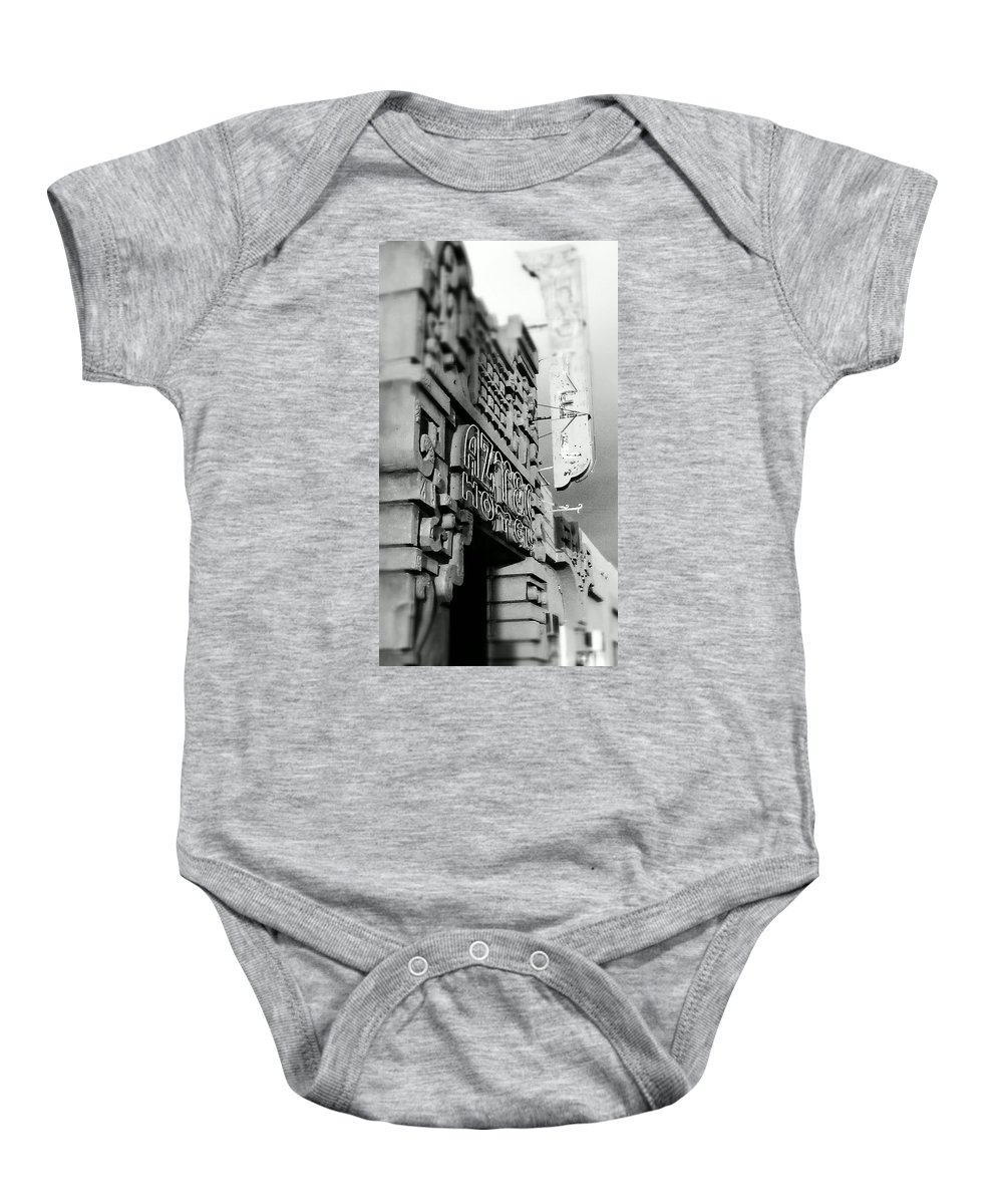 Hotel Baby Onesie featuring the photograph The Aztec Hotel by Stephanie Haertling