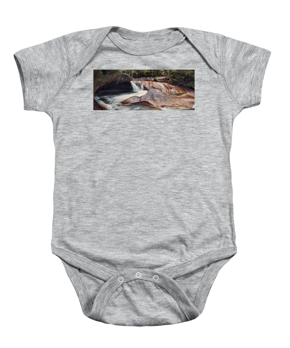 The Basin Baby Onesie featuring the photograph The Basin Pano by Heather Applegate