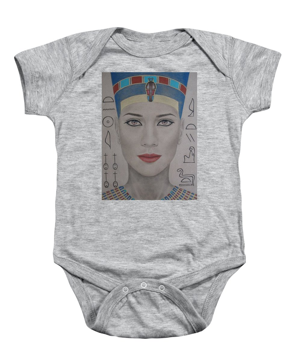Woman Baby Onesie featuring the painting The Beautiful One Has Come by Lynet McDonald