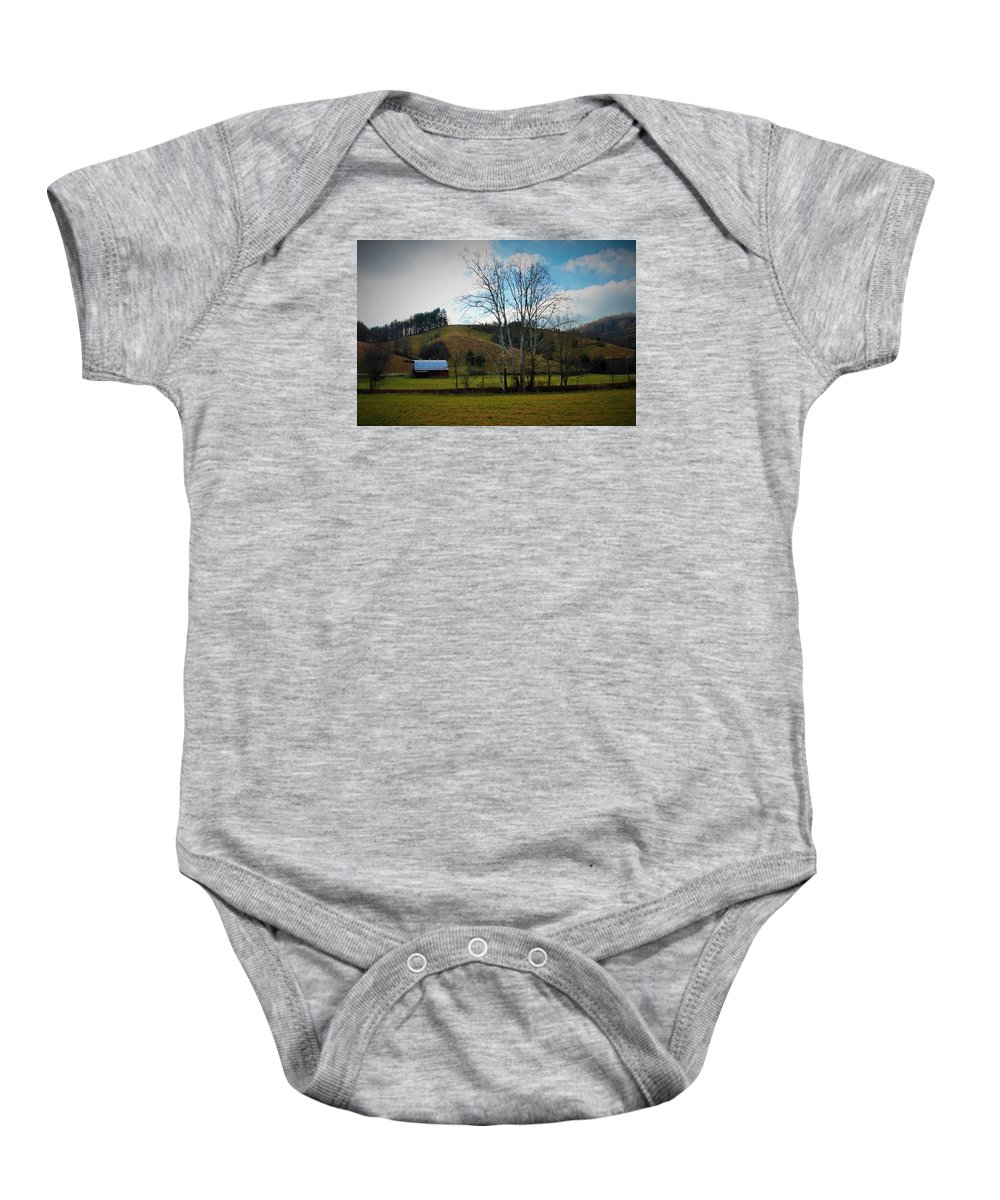 Country Baby Onesie featuring the photograph The Beauty Of The Country by Sandra Bennett