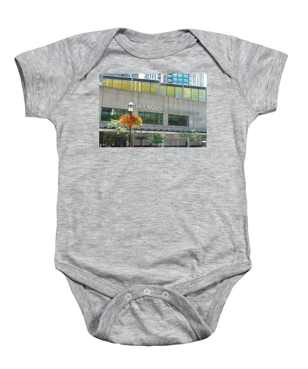 Canada Baby Onesie featuring the photograph The Canadian Stage Company by Ian MacDonald