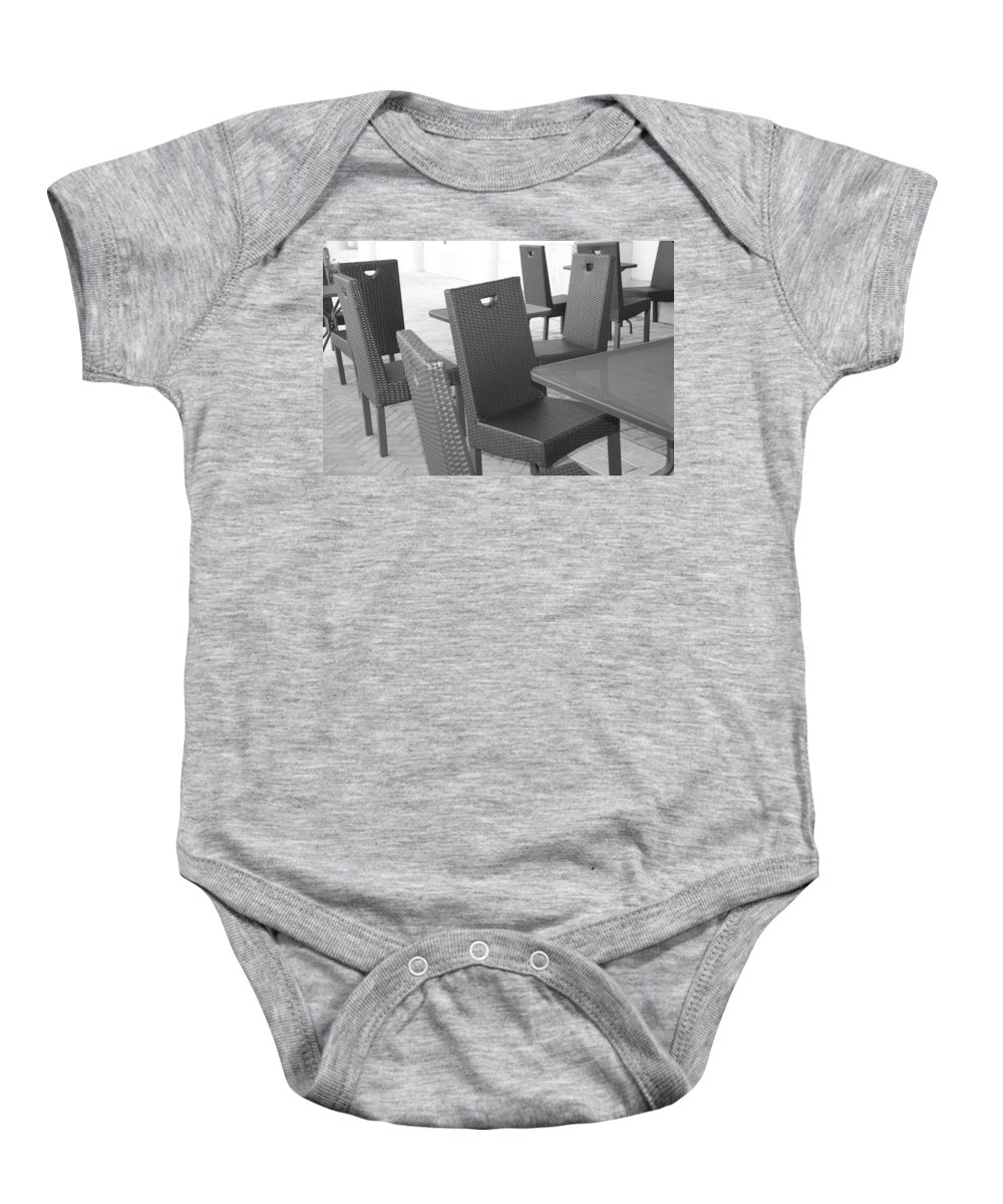 Pop Art Baby Onesie featuring the photograph The Chairs by Rob Hans