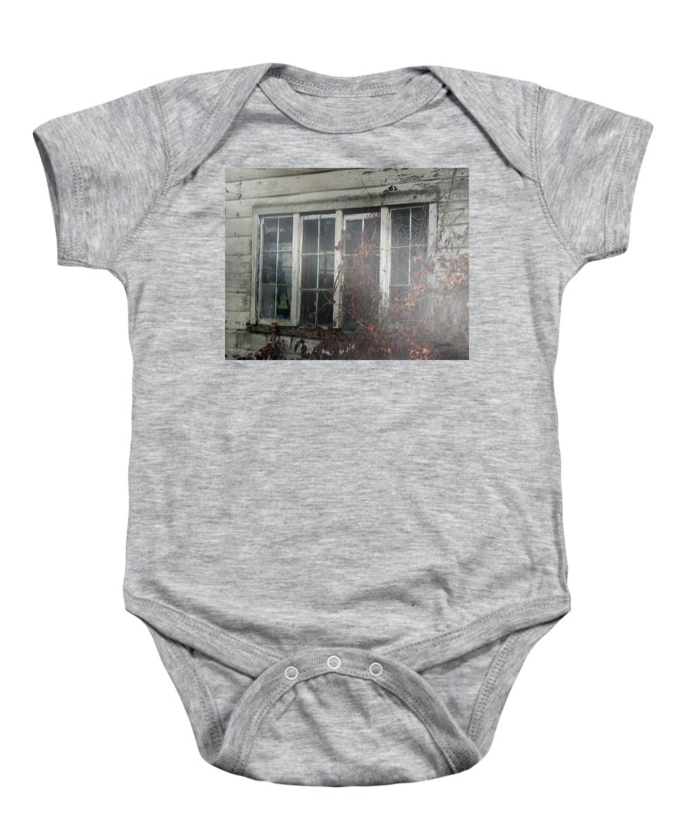 Boy Baby Onesie featuring the painting The Child At The Window by RC deWinter