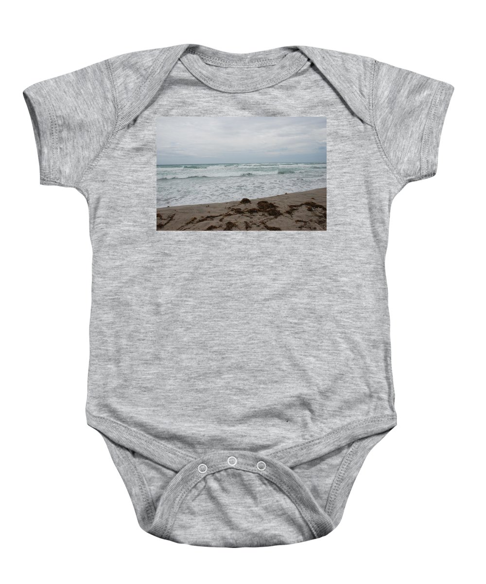 Water Baby Onesie featuring the photograph The Cold Sea by Rob Hans