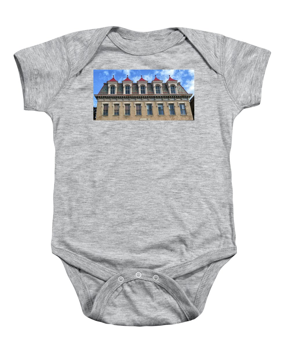 The Confederate Home Baby Onesie featuring the photograph The Confederate Home by Dave Mills