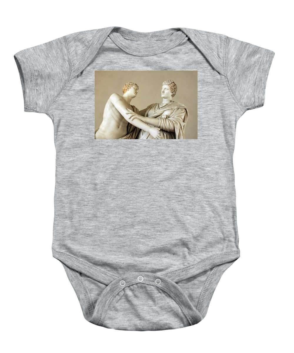 Statues Baby Onesie featuring the photograph The Conversation by Munir Alawi