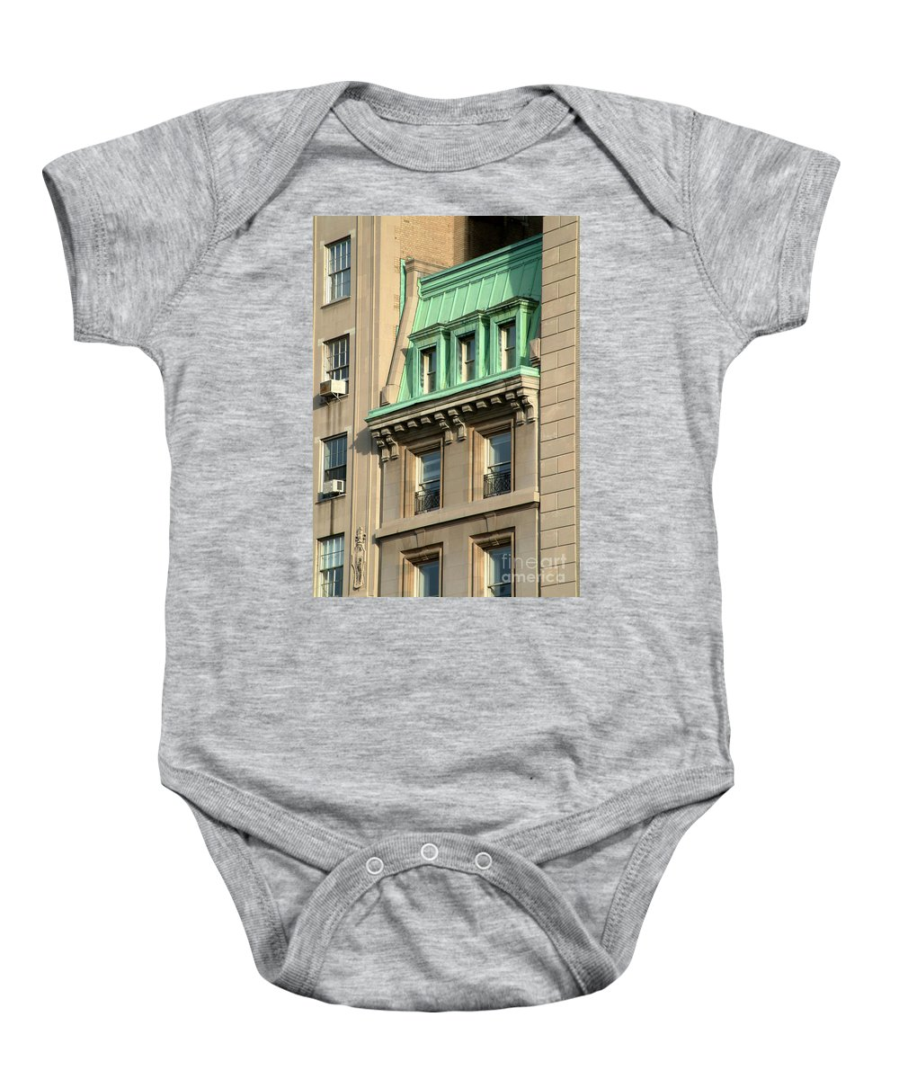 Apartments Baby Onesie featuring the photograph The Copper Attic by RC DeWinter