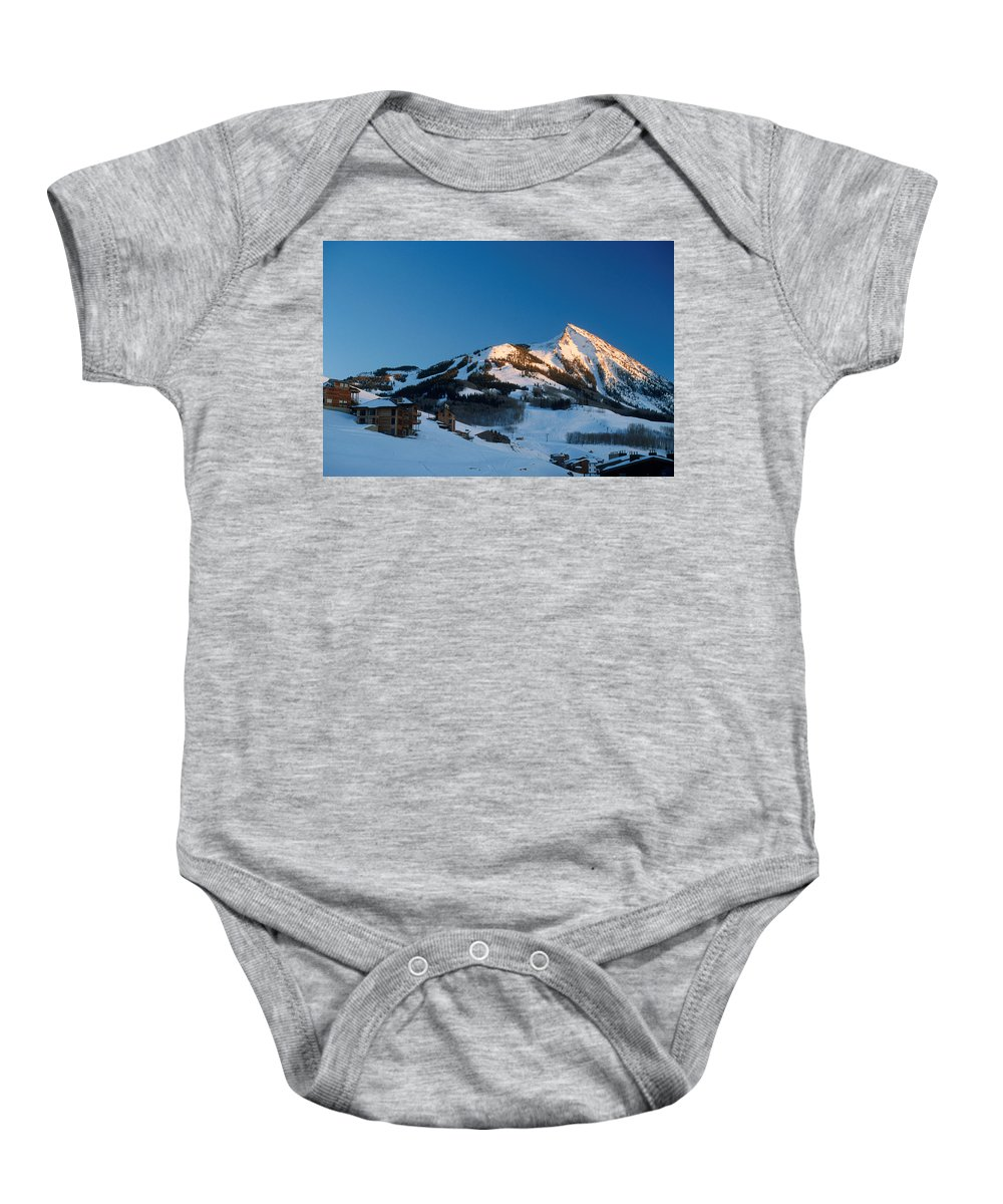 Crested Butte Baby Onesie featuring the photograph The Crested Butte by Jerry McElroy