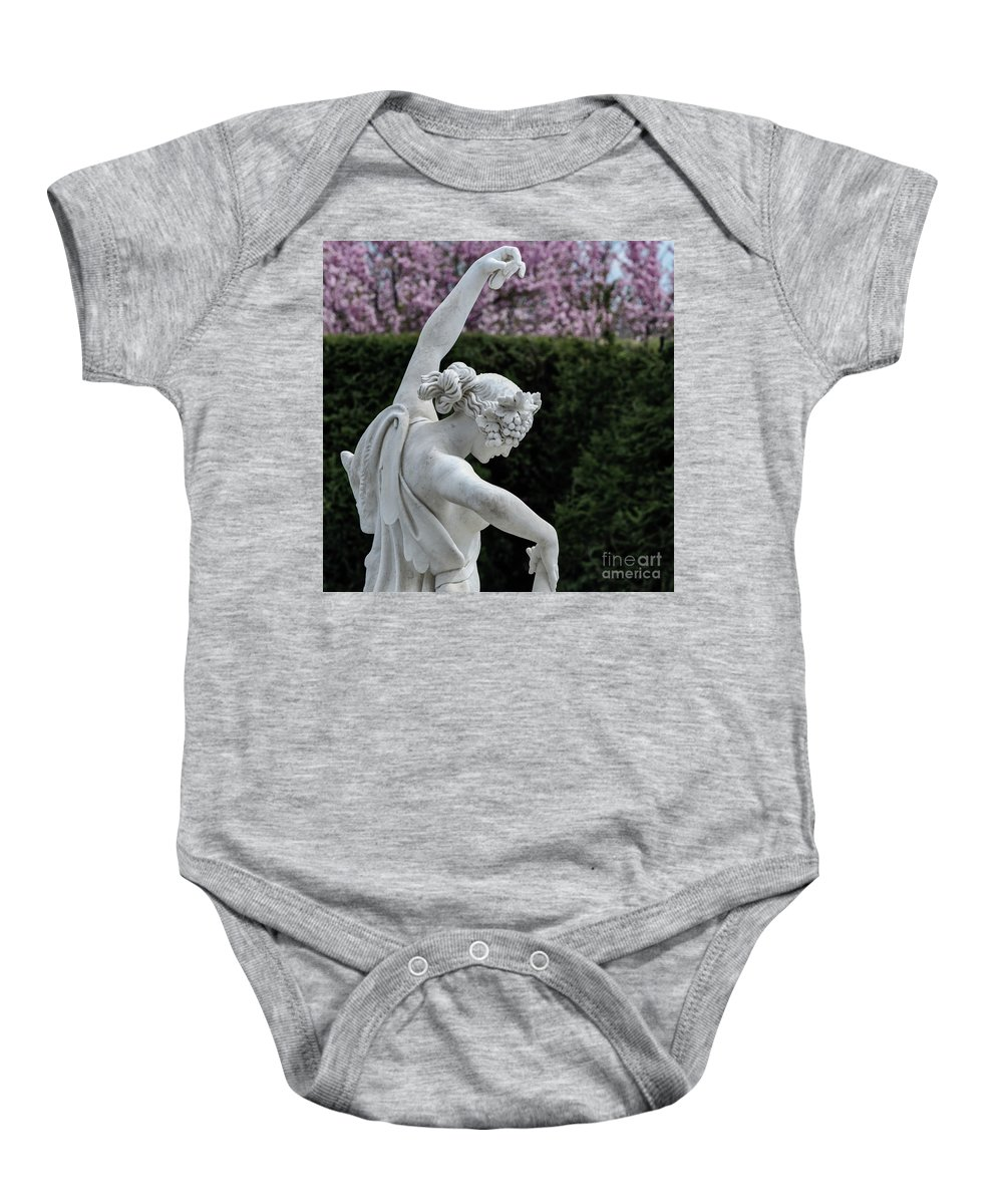 The Dancing Lesson Baby Onesie featuring the photograph The Dancing Lesson Statue by Doug Sturgess