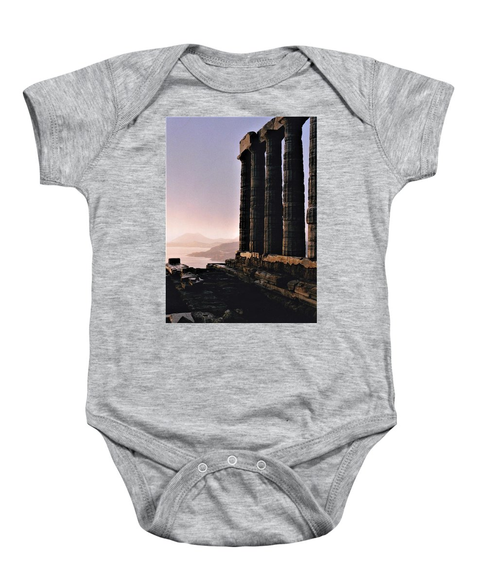 Greece Baby Onesie featuring the photograph The Edge Of The World by Betsy Botsford