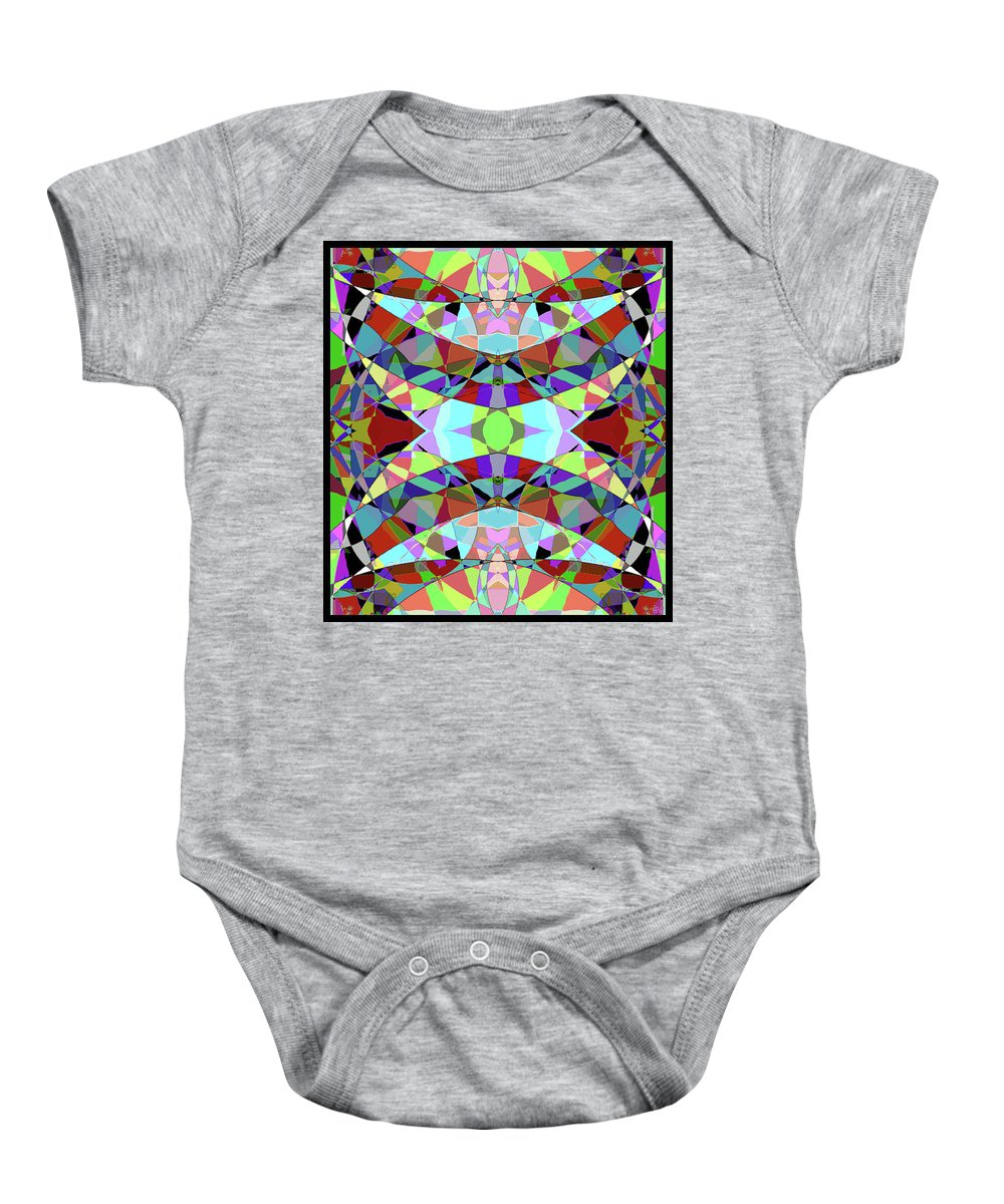 Abstract Baby Onesie featuring the digital art The Egyptian by Barbara Gerry