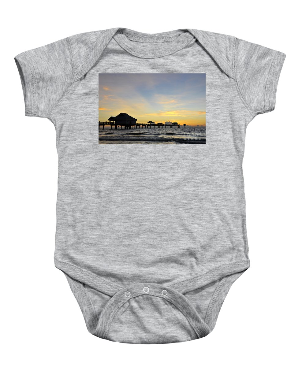 Sunset Baby Onesie featuring the photograph The End Of A Beautiful Day by David Lee Thompson