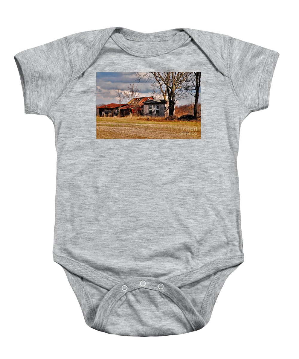Landscape Baby Onesie featuring the photograph The End Of Days by Lois Bryan
