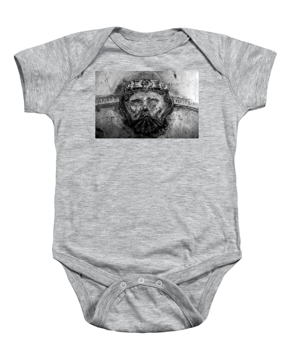 Face Baby Onesie featuring the photograph The Face Of War by David Lee Thompson