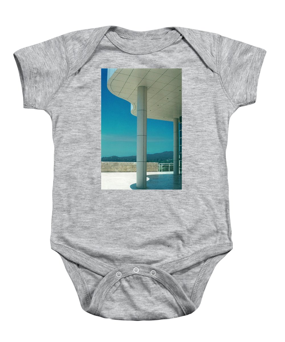 Architecture Baby Onesie featuring the photograph The Getty Panel 2 Of Triptyck by Steve Karol