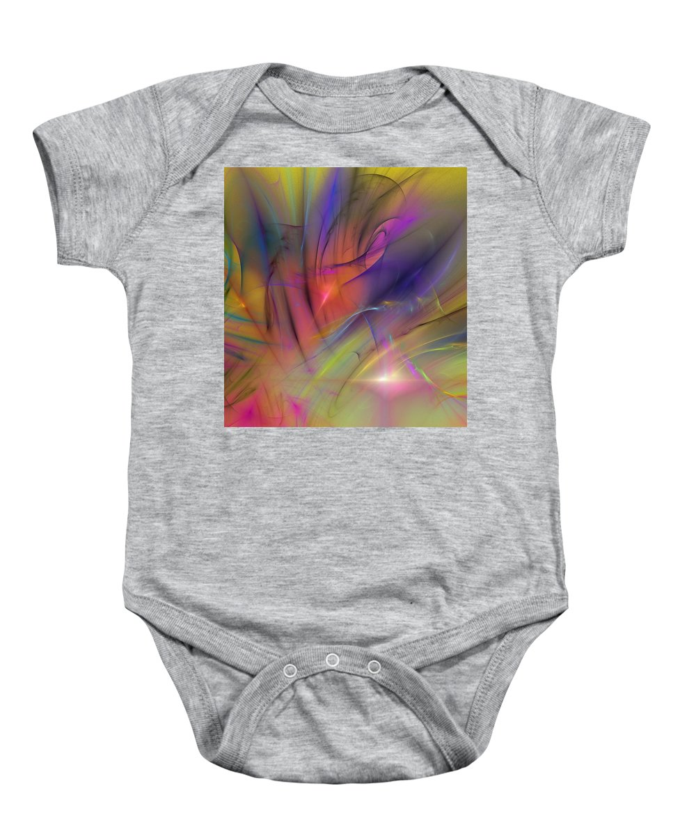Abstract Baby Onesie featuring the digital art The Gloaming by David Lane