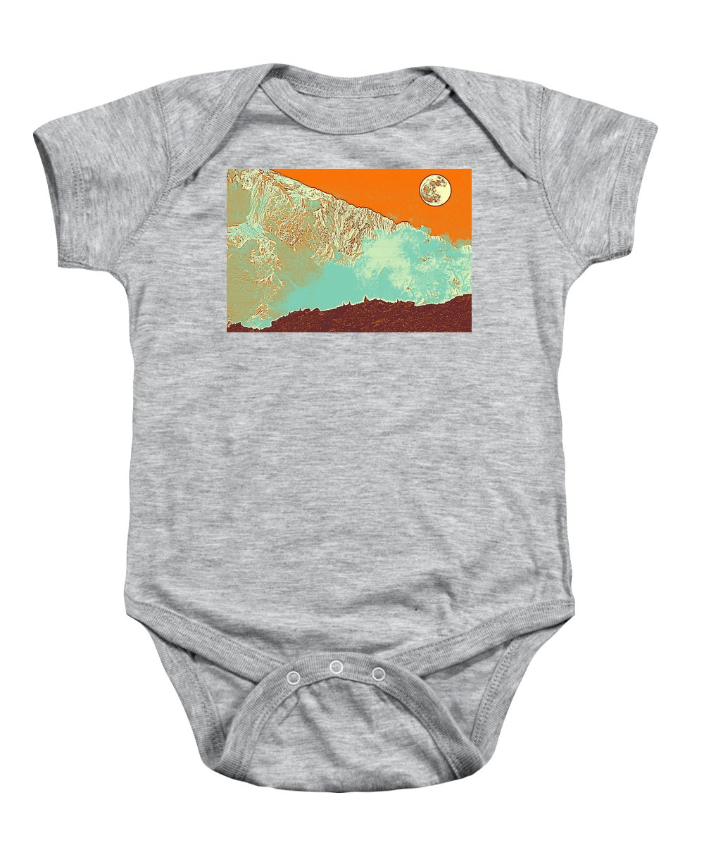 Nature Baby Onesie featuring the painting The Himalayas by Celestial Images