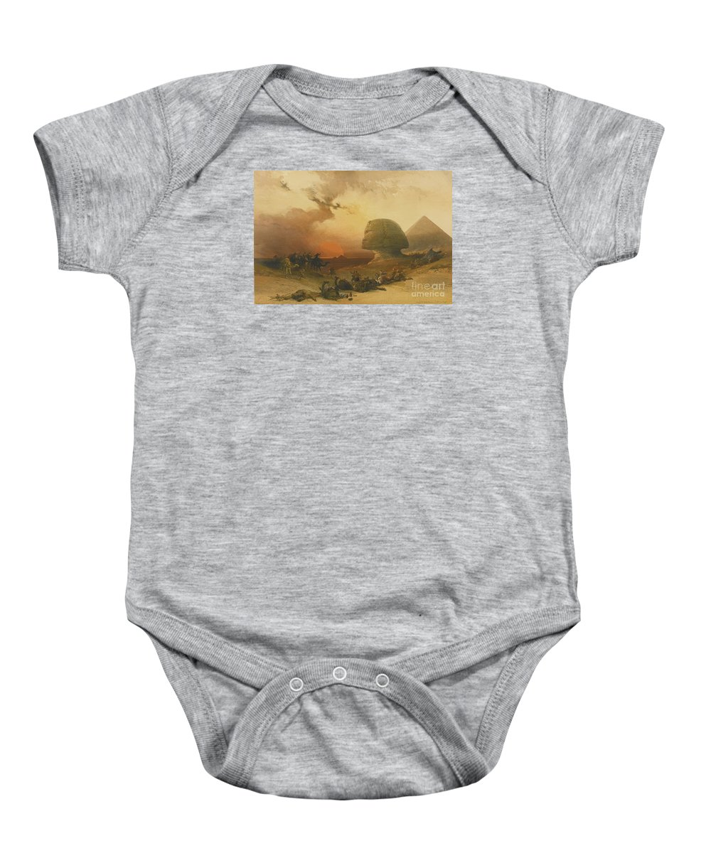 Roberts Baby Onesie featuring the painting The Holy Land, Syria, by MotionAge Designs