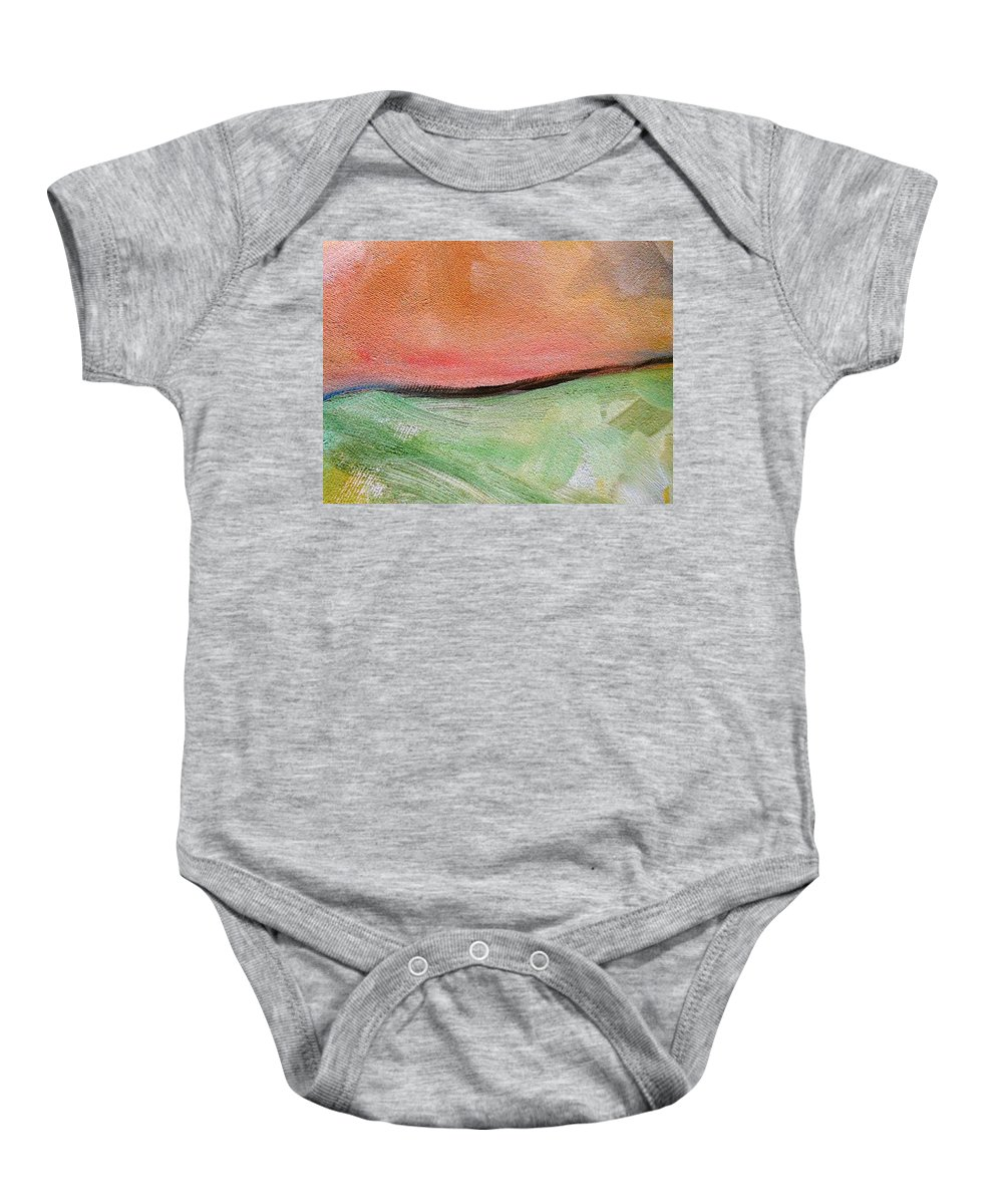 Truck Baby Onesie featuring the painting The Journey II by Lord Frederick Lyle Morris - Disabled Veteran