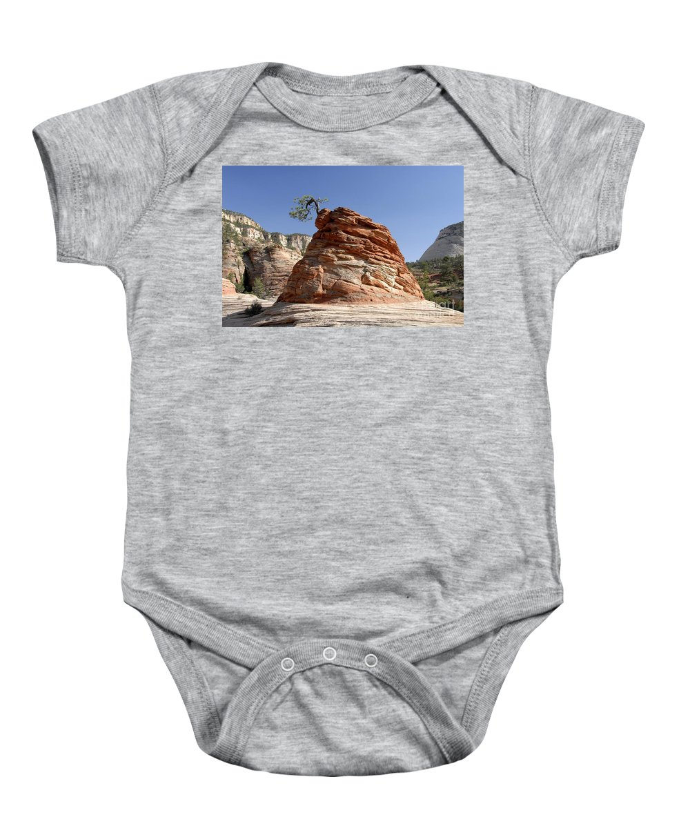 Zion National Park Utah Baby Onesie featuring the photograph The Land Of Zion by David Lee Thompson