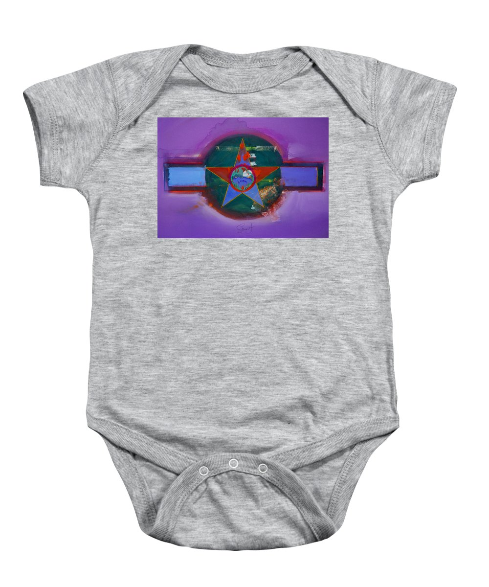 Star Baby Onesie featuring the painting The Lighthouse Keeper by Charles Stuart