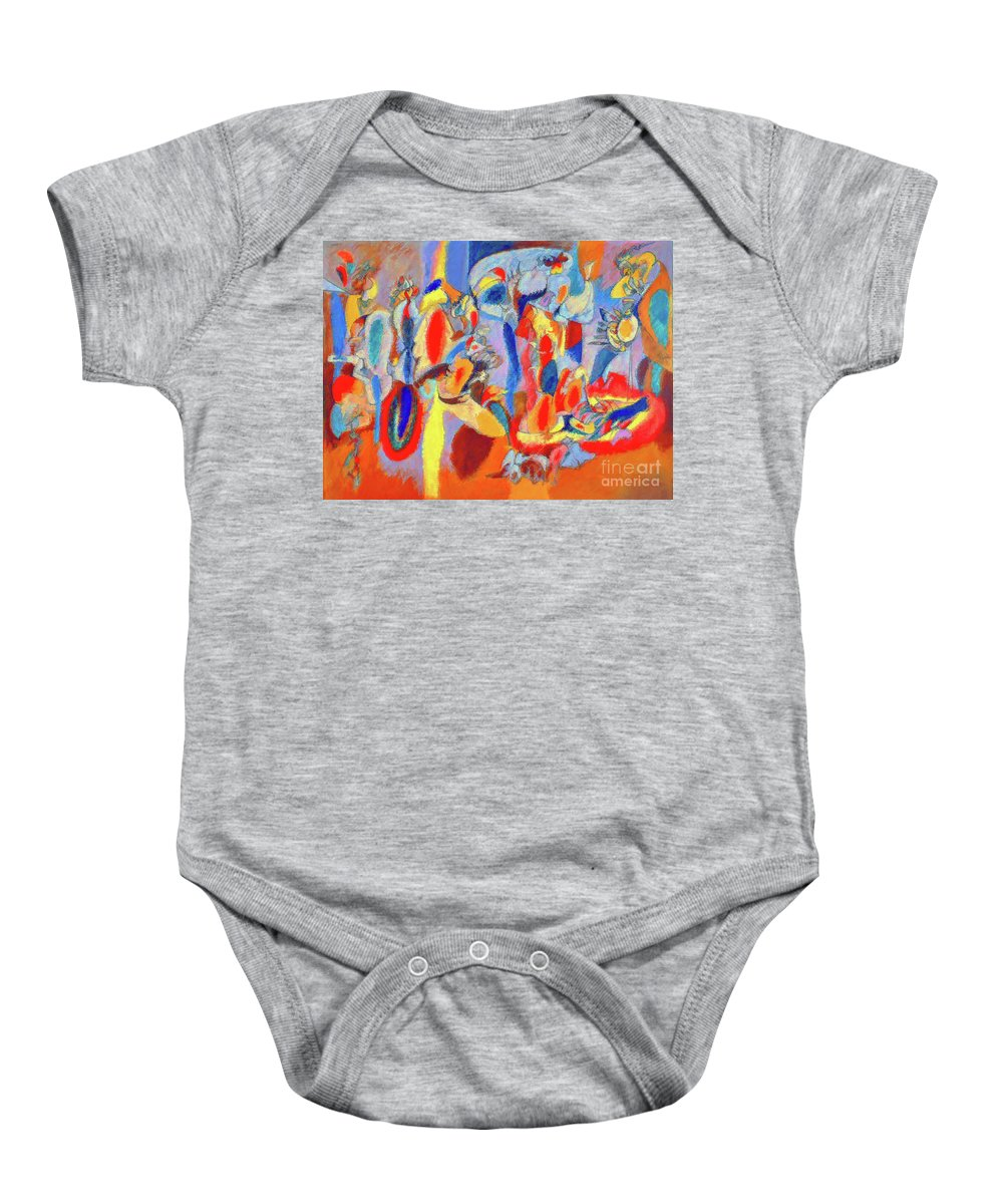 Arshile Gorky Baby Onesie featuring the painting The Liver by D Fessenden