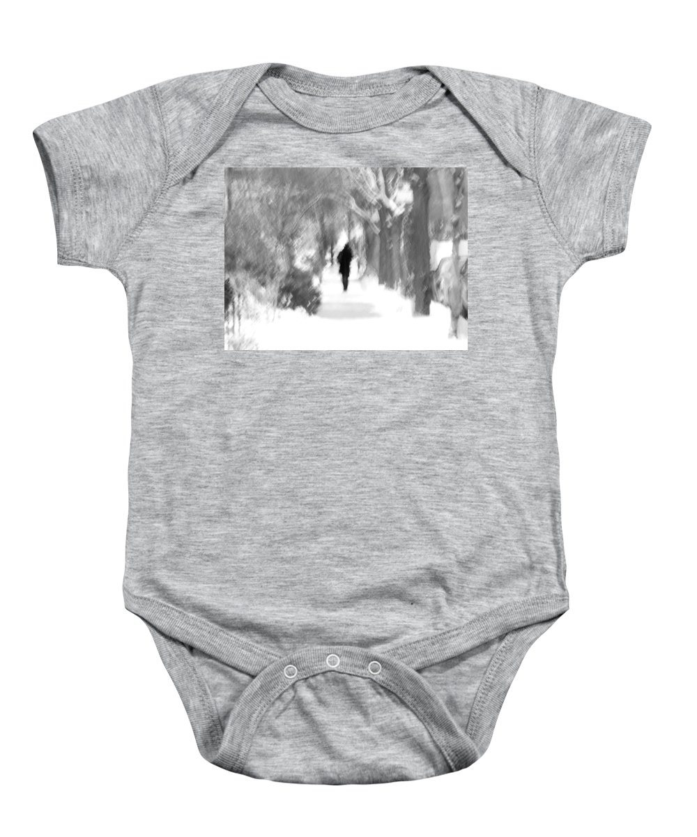 Blur Baby Onesie featuring the photograph The Long December by Dana DiPasquale