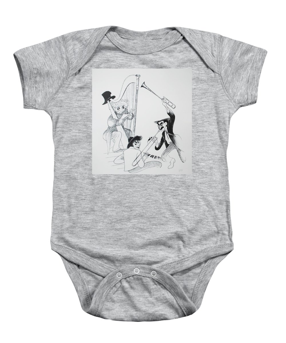 The Marx Brothers Baby Onesie featuring the photograph The Marx Brothers O by Rob Hans