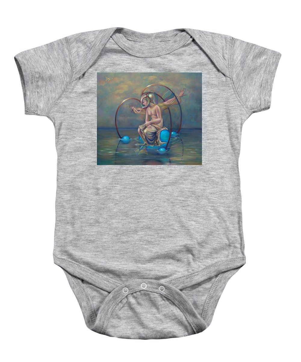 Earth Baby Onesie featuring the painting The Metamorphosis Of Gaia by Patrick Anthony Pierson