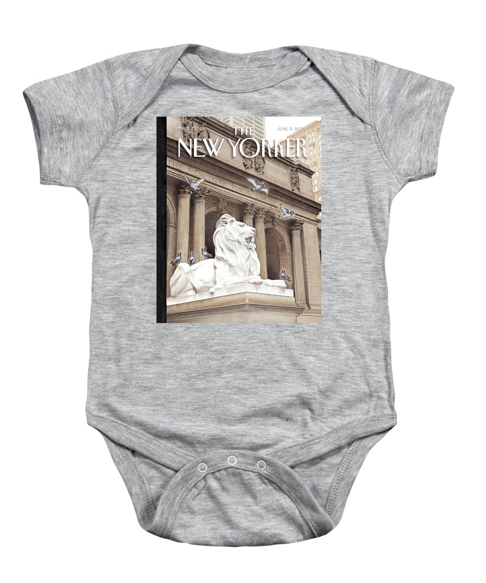 New Baby Onesie featuring the photograph It Is A Jungle Out There by Harry Bliss