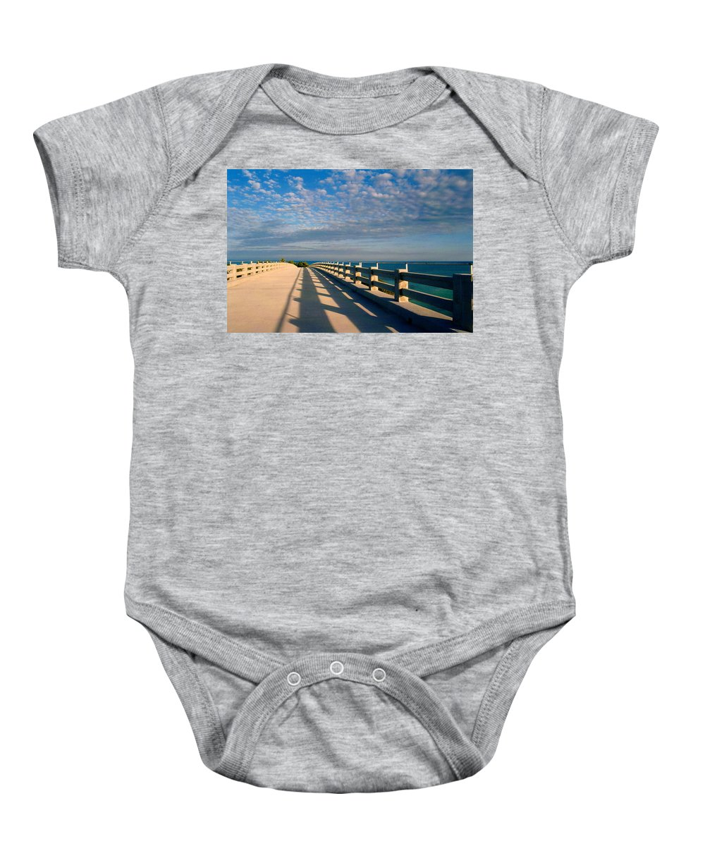 Bridges Baby Onesie featuring the photograph The Old Bridge by Susanne Van Hulst
