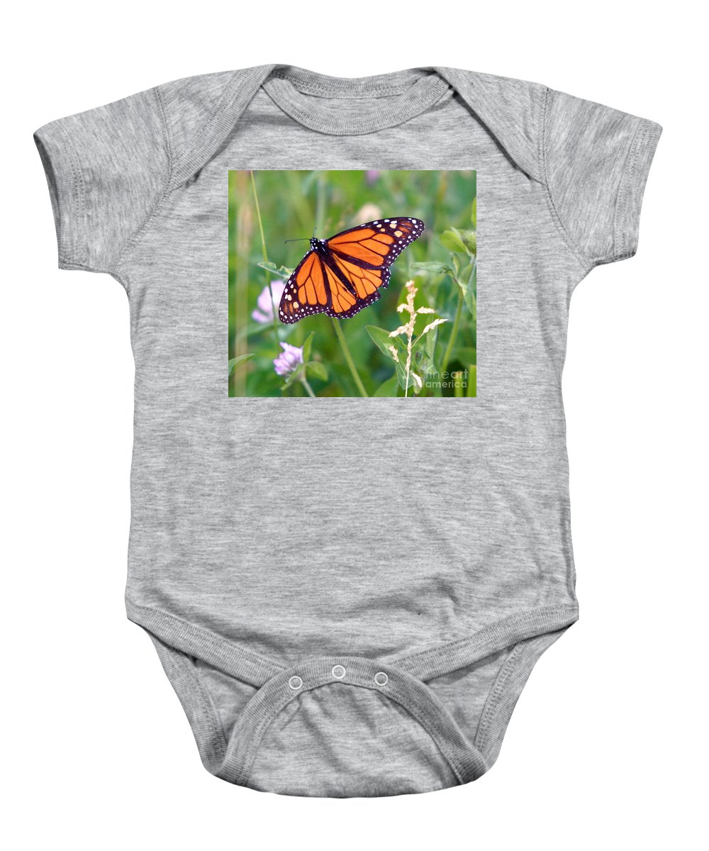 Butterfly Baby Onesie featuring the photograph The Orange Butterfly by Robert Pearson