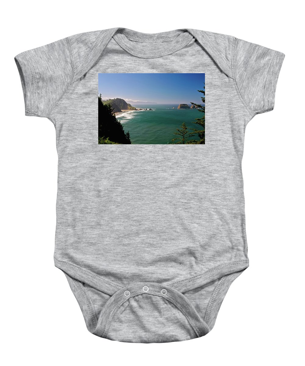 Oregon Baby Onesie featuring the photograph The Oregon Coast by Albert Seger