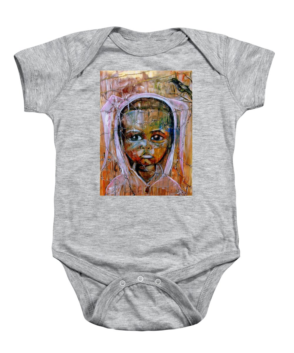 Painting Baby Onesie featuring the painting The Other Side by Angie Wright