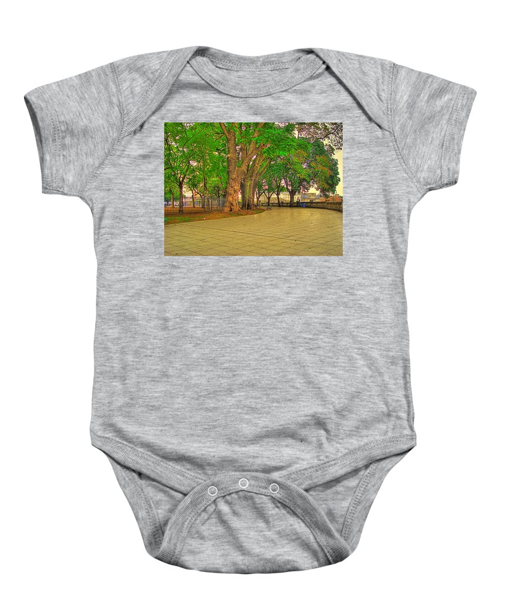 Trees Baby Onesie featuring the photograph The Park by Francisco Colon