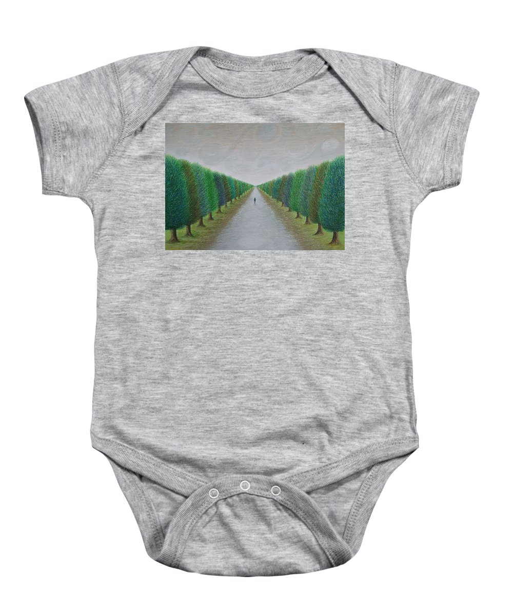 Path Baby Onesie featuring the painting The Path by Lynet McDonald