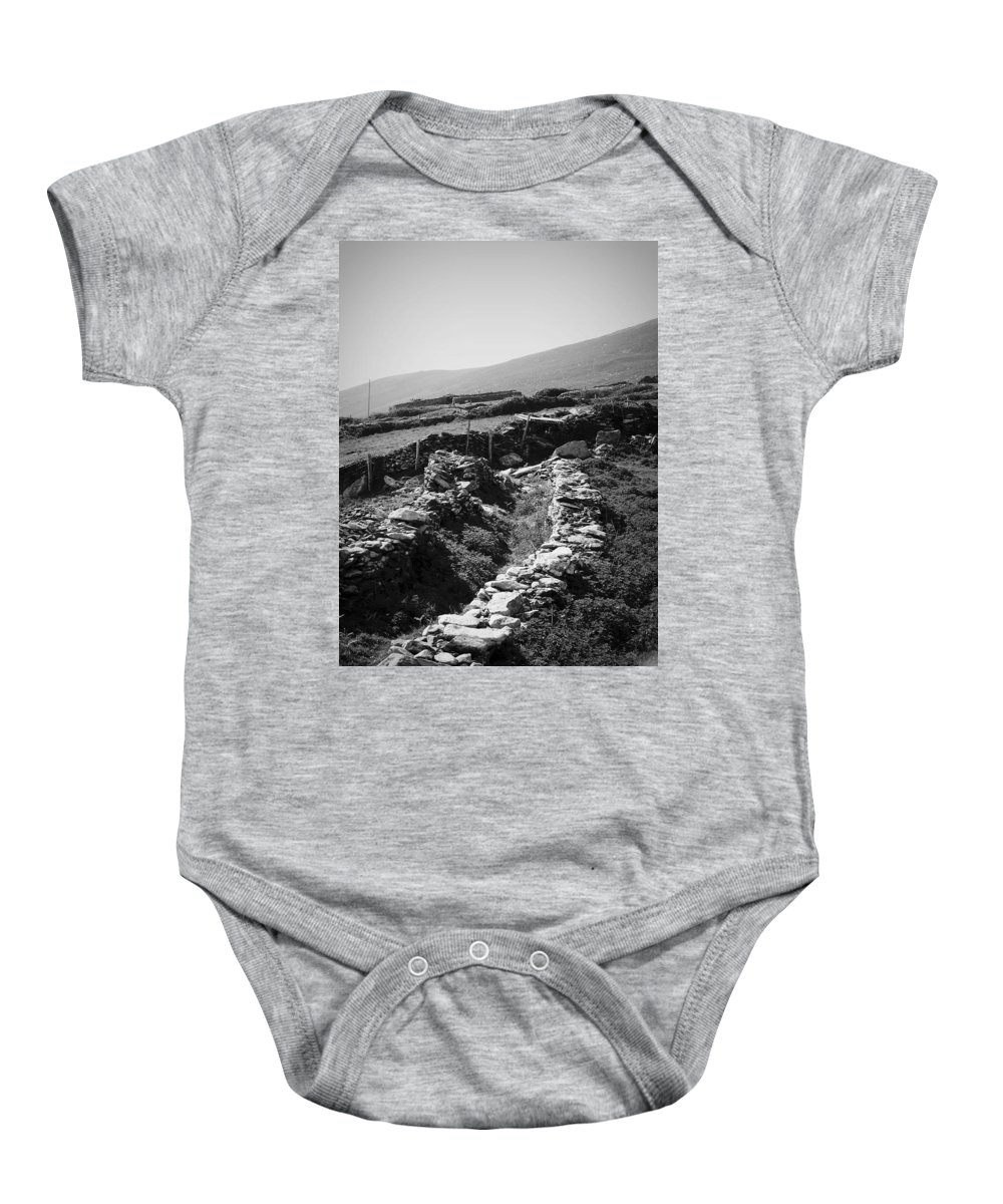 Irish Baby Onesie featuring the photograph The Path To The Beehive Huts In Fahan Ireland by Teresa Mucha