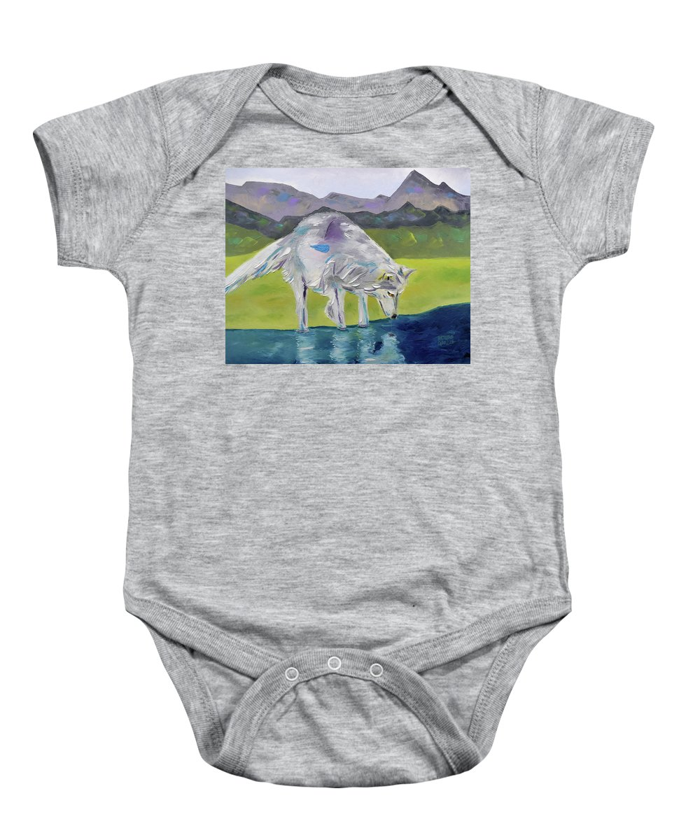 Oil On Canvas By Arturo Garcia Baby Onesie featuring the painting The Peace Within by Arturo Garcia