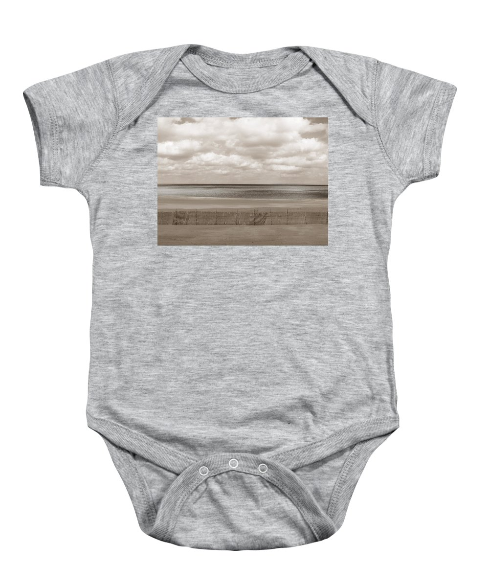 Ocean Baby Onesie featuring the photograph The Perfect Sky Is Torn by Dana DiPasquale