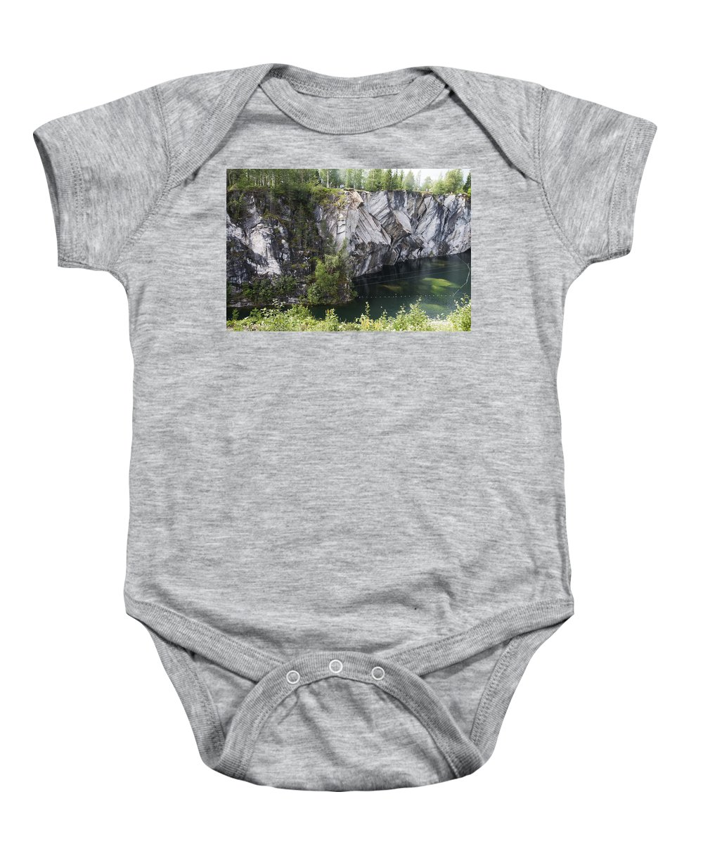 Landscape Baby Onesie featuring the photograph The Power Of Nature by Elena Ivanova IvEA