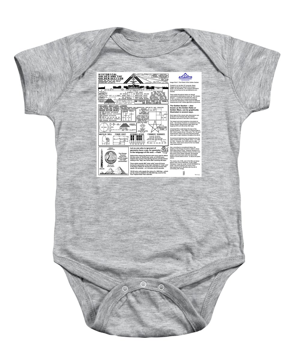 Duane Mccullough Baby Onesie featuring the photograph The Power Of The Golden Section by Duane McCullough