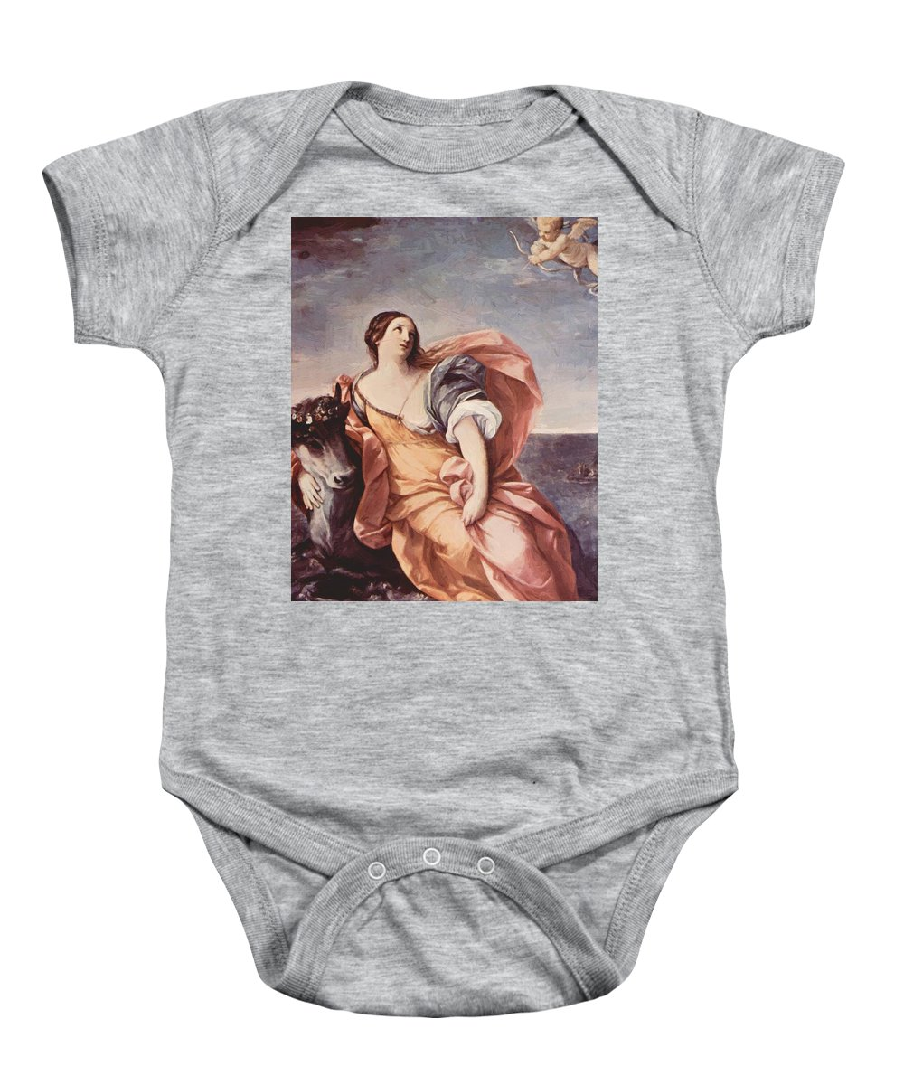 The Baby Onesie featuring the painting The Rape Of Europa 1639 by Reni Guido