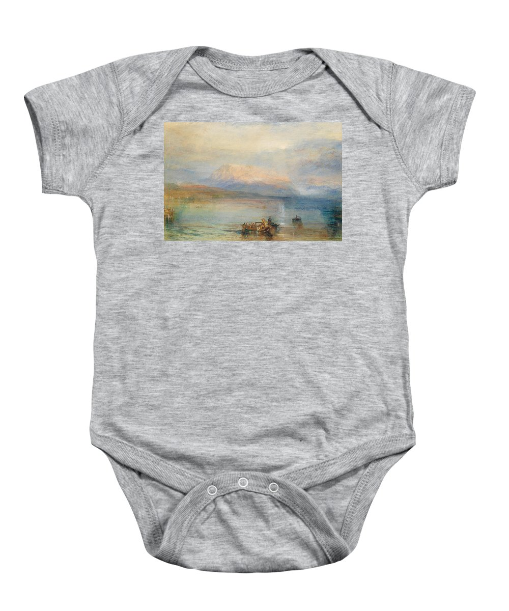 William Turner Baby Onesie featuring the painting The Red Rigi by William Turner