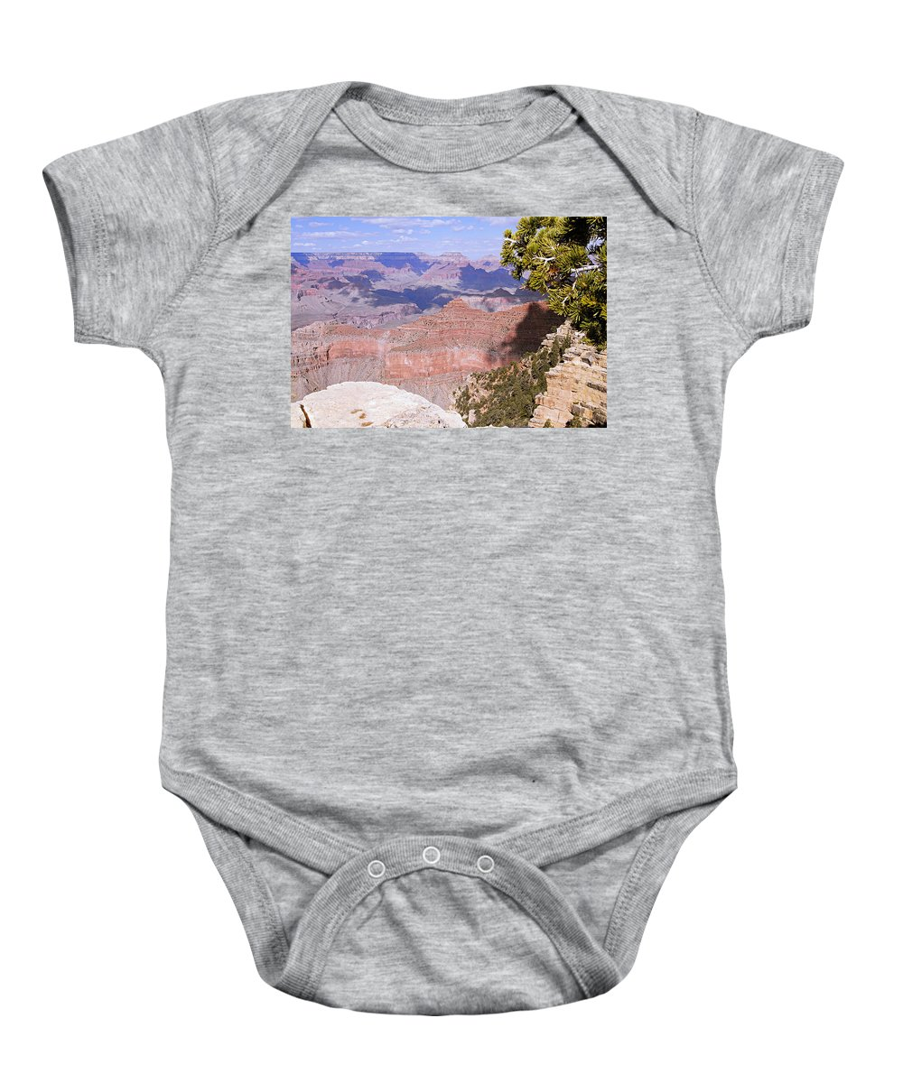 Grand Canyon National Park Baby Onesie featuring the photograph The Red Wall by Larry Ricker