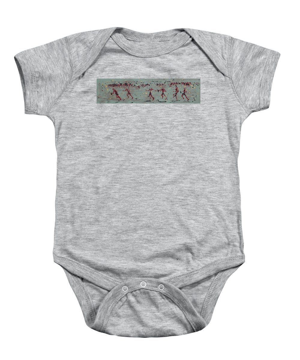 Abstract Art Baby Onesie featuring the painting The Relay Race by J R Seymour