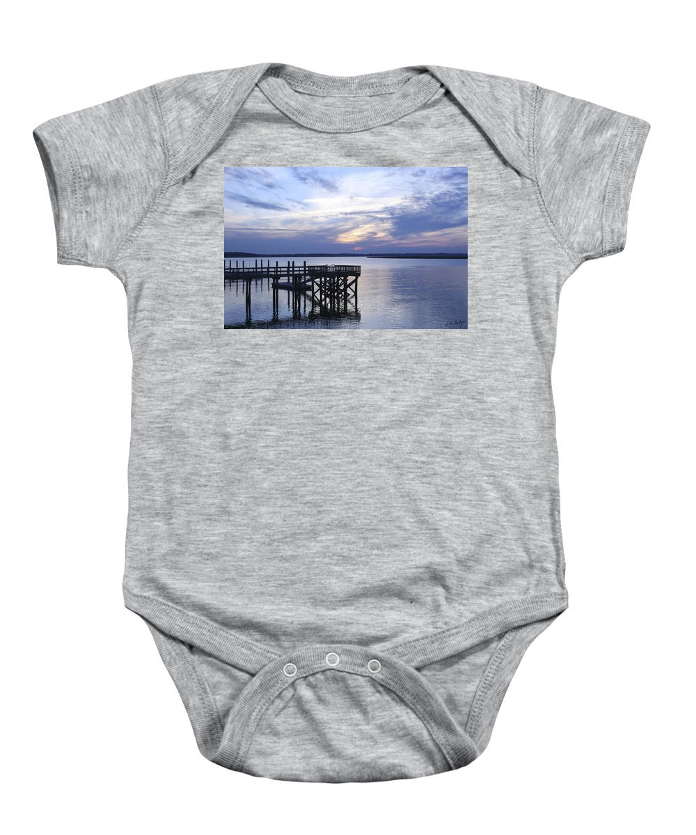 Landscape Baby Onesie featuring the photograph The River At Dusk by Phill Doherty