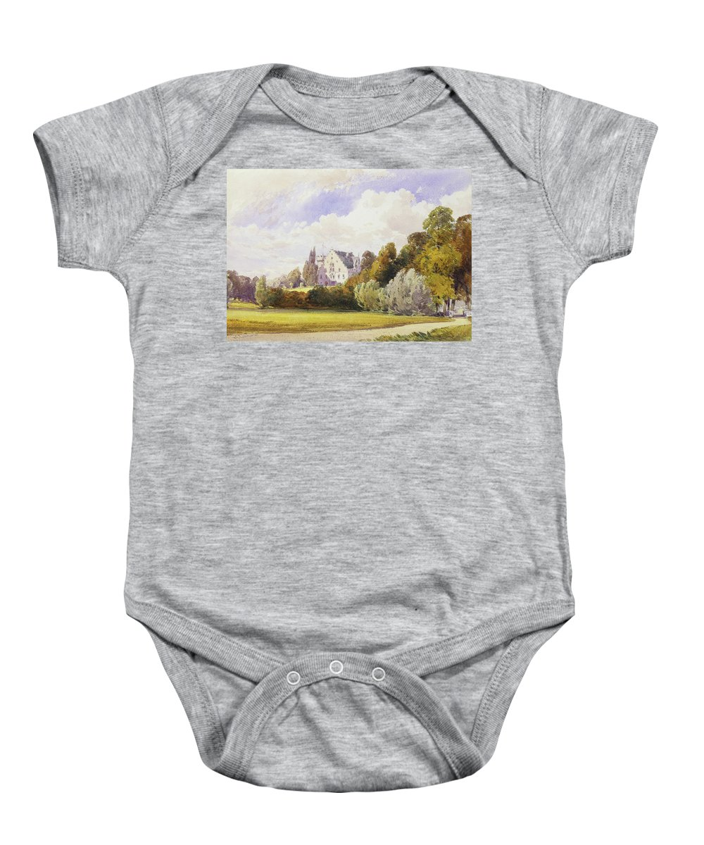 William Callow (1812-1908) The Rosenau From The South-east Baby Onesie featuring the painting The Rosenau From The South-east by William Callow