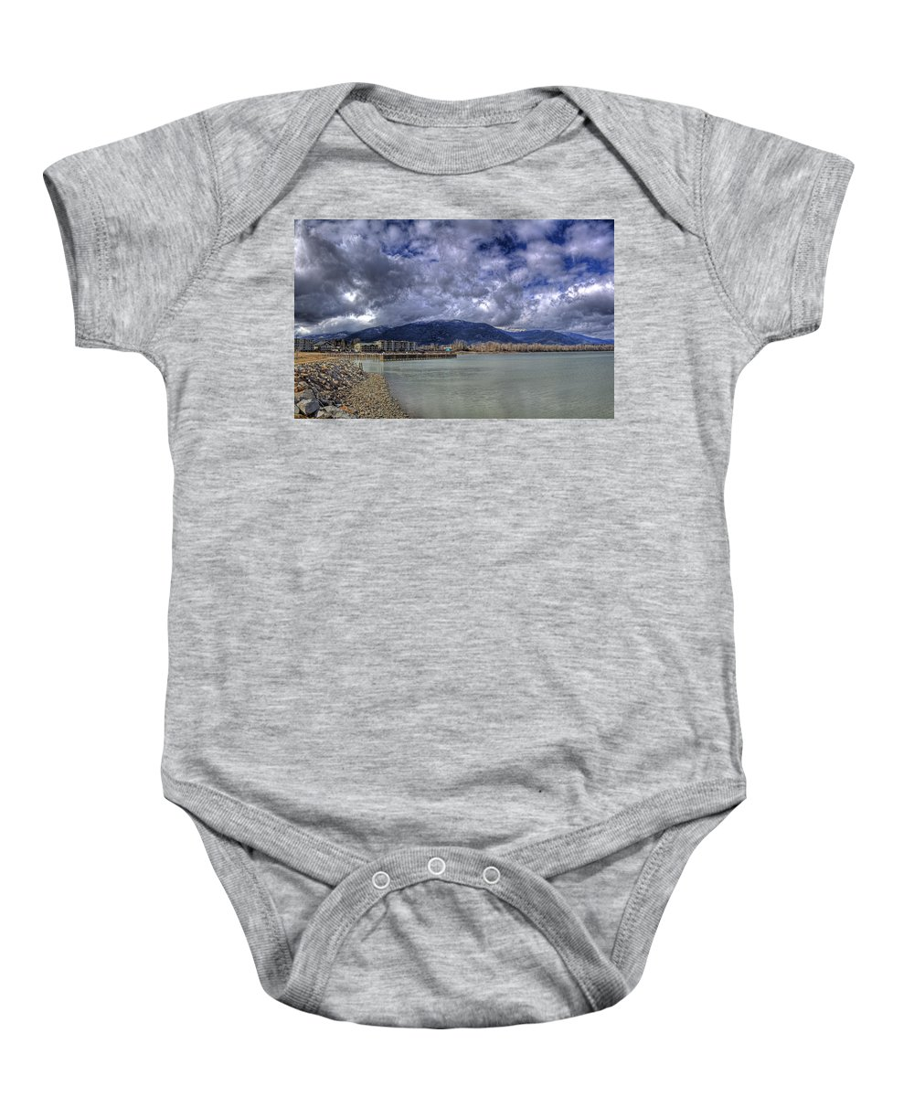 Lake Pend Oreille Baby Onesie featuring the photograph The Seasons On Lake Pend Oreille by Lee Santa