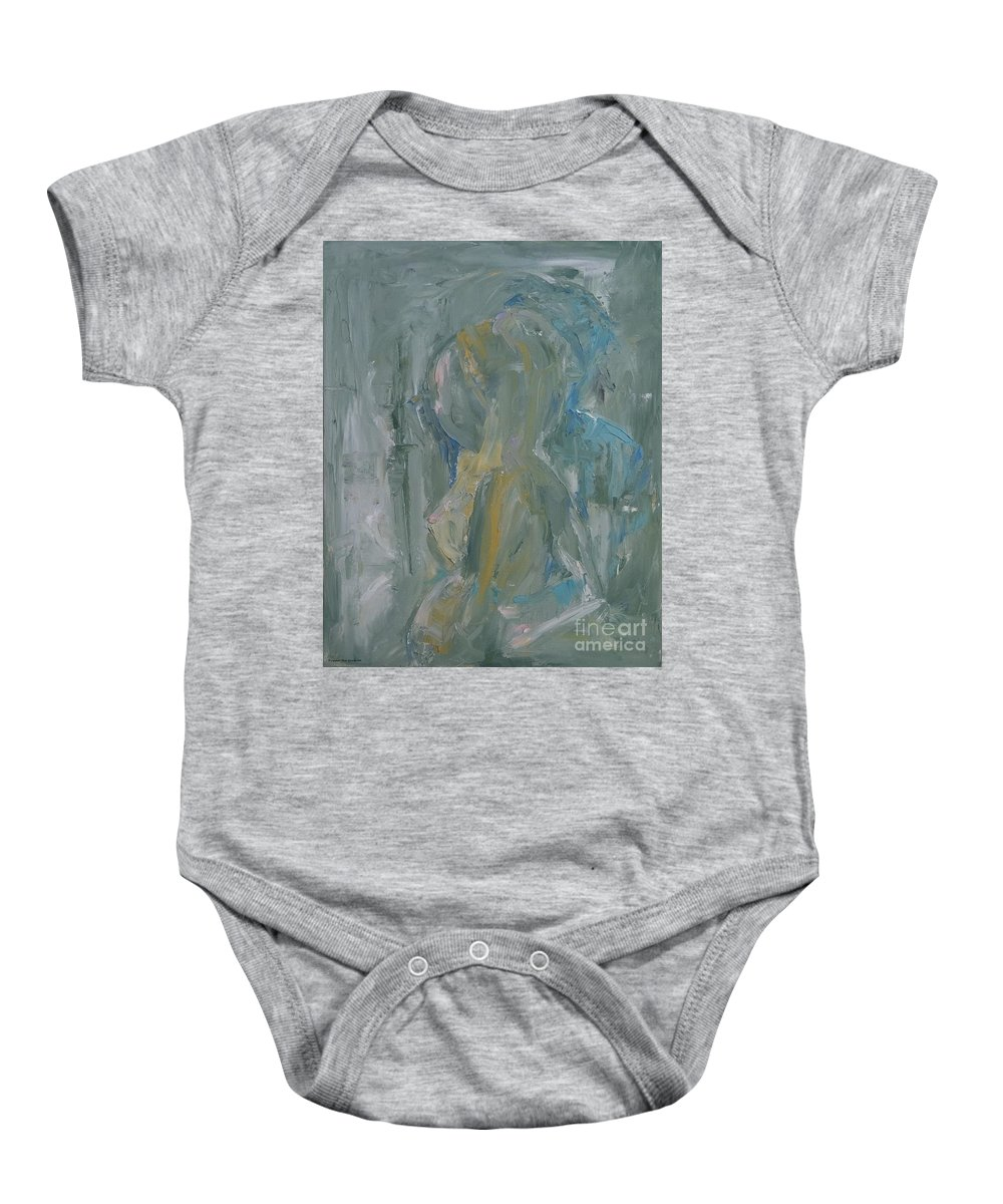 Expressionism Baby Onesie featuring the painting The Secret by Dorota Zukowska