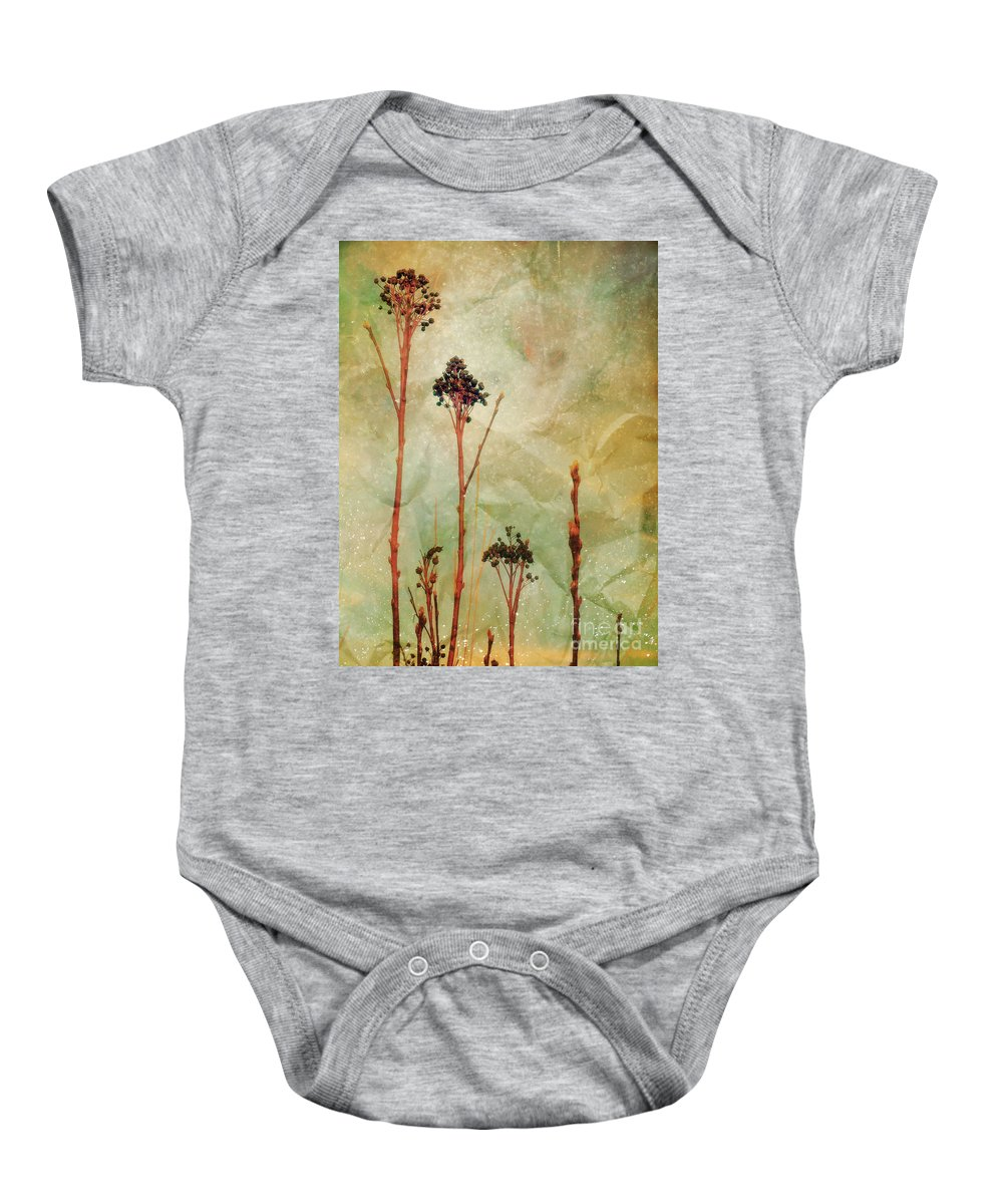 Weeds Baby Onesie featuring the photograph The Simple Things by Tara Turner